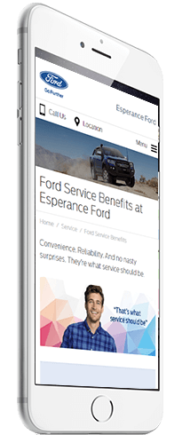 Screenshot of Phil Gilbert Ford as viewed on a smartphone