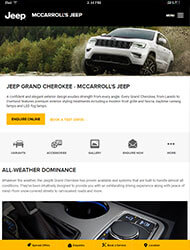 Jeep Tablet Site