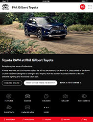 Toyota Tablet Site